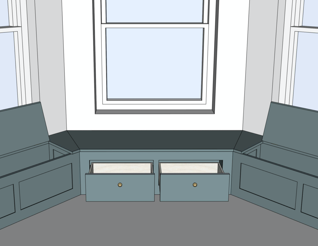 Bespoke Window Bench seating with drawers